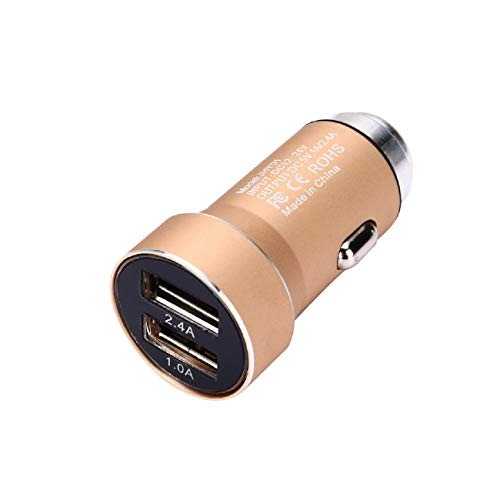 Car Charger, Putars Quick Charge Dual USB Port Adapter Voltage Dual USB Glare Metal Car Charger Charge Twe Devices Simultaneously Wide Compatibility 5V/2.4A/1A by Putars (Image #1)
