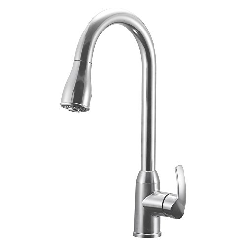 Dura Faucet (DF-NMK508-SN RV Pull-Down Kitchen Faucet (Brushed Satin Nickel) ()