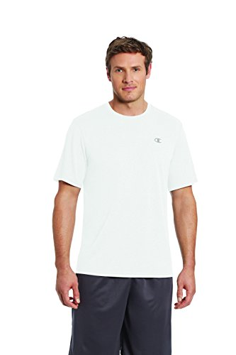 Champion Men's Double Dry T-Shirt, White, M