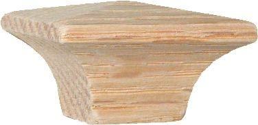 Side Grain Mission Square Oak Knob Pull Handle 1-1/4