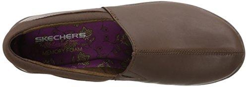 Slip Leather Loafer on Singolare Chocolate Skechers Savor SYI0qEnwZ