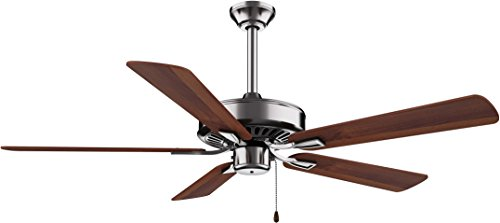 Minka-Aire F556-BN/DW, Contractor Plus Brushed Nickel Energy Star 52