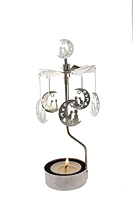 Rotary Candle Holder Spinning Candleholder Metal Small Gift