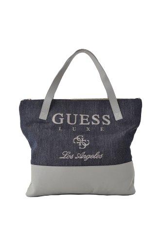 Bolso Guess de piel y lona, colecci-n Guess Luxe