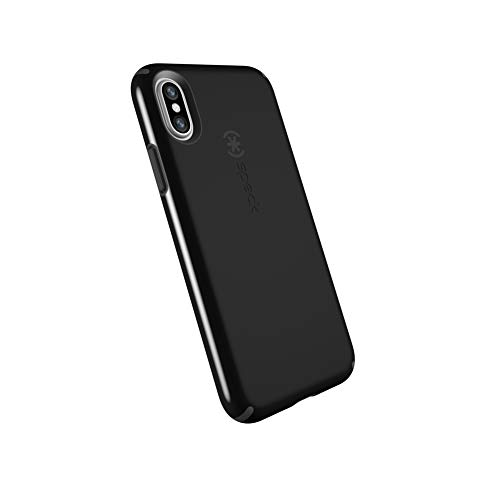 - Speck Products CandyShell Cell Phone Case for iPhone XS/iPhone X - Black/Slate Grey