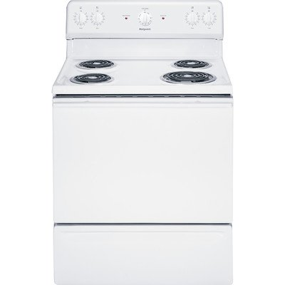 White Hotpoint Electric Range (Hotpoint RB525DHWW 30-Inch 5 Cu. Ft. Free-Standing Electric Range, White)