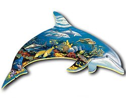 Dolphin Dreams - Shaped Puzzle by Ravensburger