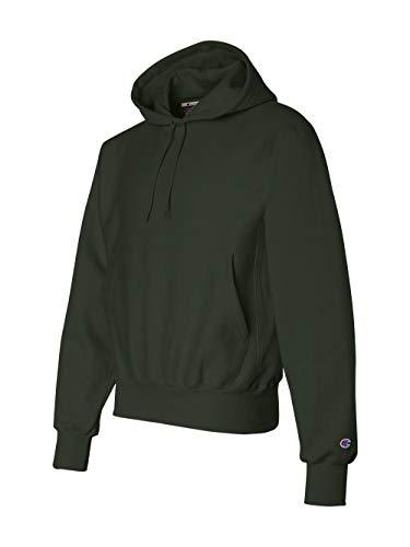 - Champion Men's Men' Reverse Weave Fleece Pullover Hoodie, Dark Green, Large