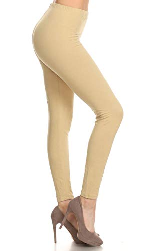 Leggings Depot Ultra Soft Basic Solid REGULAR and PLUS 36 COLORS Best Seller Leggings Pants Carry 1000+ Print Designs (3X-5X, ()
