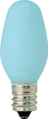 GE Lighting 26223 4-Watt Specialty C7 Incandescent Light Bulb, Blue