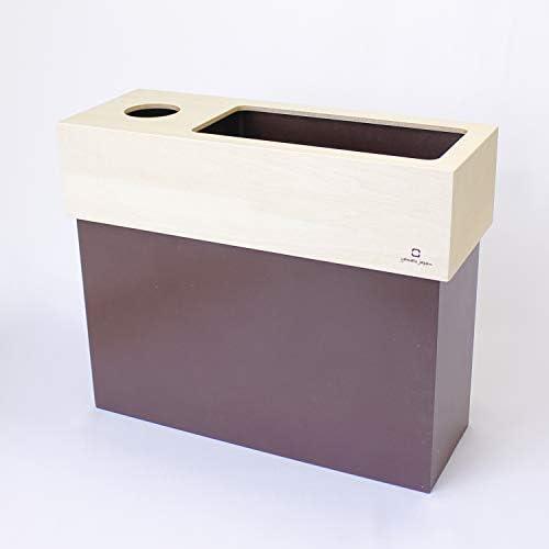 ヤマト工芸 ゴミ箱 ダストボックス ティッシュボックス付き 木製 YK15-006 dust&tissue case CUBE<ブラウン>♪ ナチュラル雑貨 北欧風 シンプル 日本製 おしゃれ