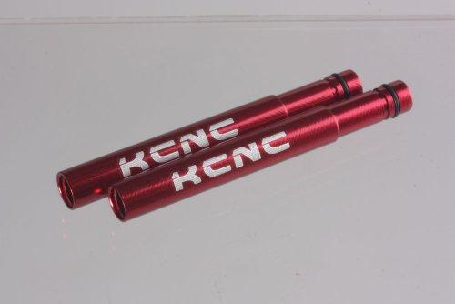 KCNC バルブエクステンション 50mm 6061合金製 2本組み 2色あり (レッド)