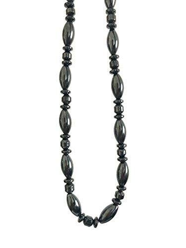 Acupress Hematite Magnetic Stone Nacklace Therapy Healing Jewelry in Multi Styles. (Type D)