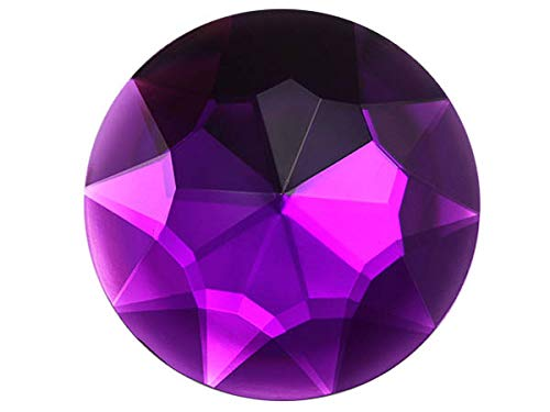 50mm Extra Large Self Adhesive Round Jewels - 2 Pieces (Purple Amethyst H105)
