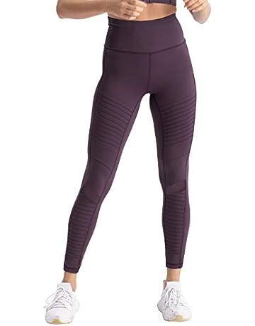 0fc57e6bddfc coastal rose Women's High Waist Yoga Pants Ankle Moto Leggings Workout  Tights