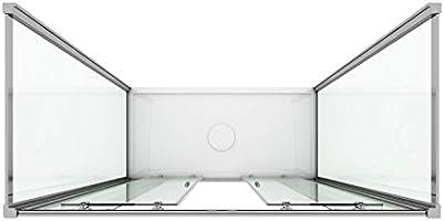 Idralite Mampara de Ducha 3 Lados 70x120x70 CM H185 Mod. Replay Trio 2 Hojas: Amazon.es: Hogar
