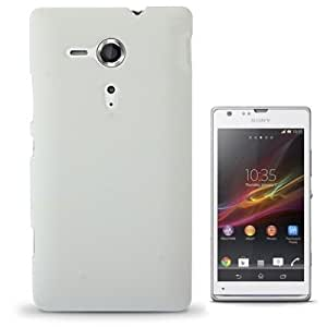 Pure Color Plastic Case for Sony Xperia SP / M35h (White)