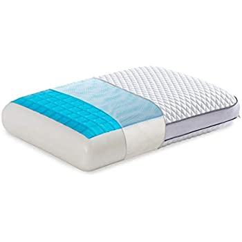 wavve Ventilated Gel Cooling Memory Foam Pillow for Sleeping Cool with Washable Zippered Cover, Standard Size