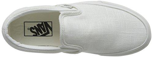 on Blanc Vans Unisex Classic Blanc Adults' On De Slip Slip Trainers wqp7S
