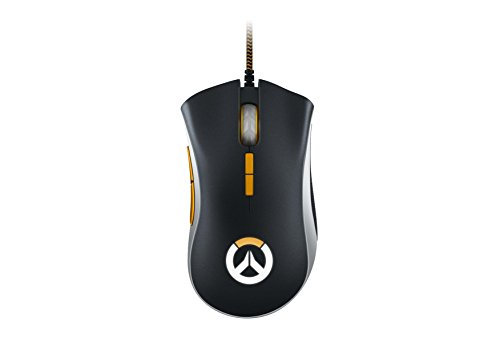 Razer DeathAdder Elite Gaming Mouse: 16,000 DPI Optical Sensor - Chroma RGB Lighting - 7 Programmable Buttons - Mechanical Switches - Rubber Side Grips - Overwatch Edition