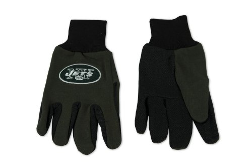 NFL New York Jets Two-Tone Gloves, Green/Black