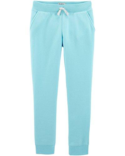 OshKosh B'Gosh Girls' Kids Fleece Jogger Pants, Fairy Tale Turquoise, 8