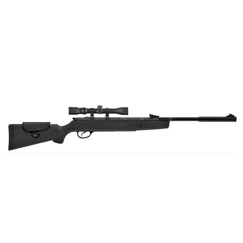 Hatsan Model 87 Vortex QuietEnergy.22 Caliber Airgun, Black Synthetic Stock