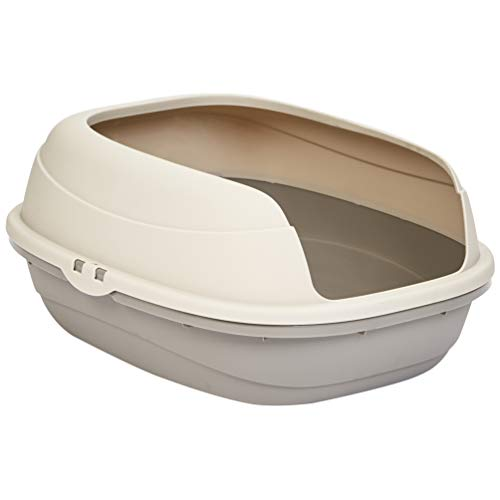 AmazonBasics Open Top Cat Litter Box - 19 x 9 x 16 Inches, Beige (Pan Giant Litter)