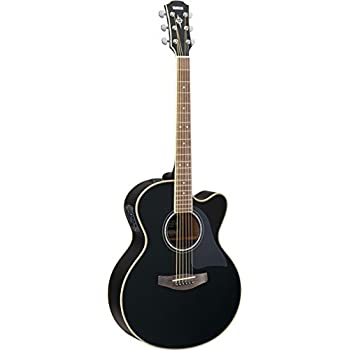 yamaha cpx700ii medium jumbo cutaway acoustic electric guitar black musical instruments. Black Bedroom Furniture Sets. Home Design Ideas