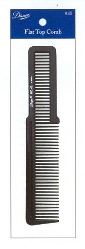 Diane Flat Top Comb, Black, 12 (Top Comb)