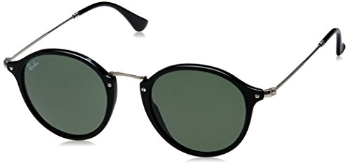 Ray-Ban Acetate Man Sunglass - Black Frame Green Lenses 49mm Non-Polarized