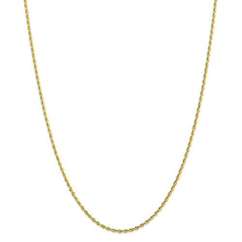 Best Birthday Gift 10k 2.00mm D/C Quadruple Rope Chain