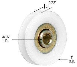 CRL 1u0026quot; Nylon Ball Bearing Sliding Screen Door Replacement Roller With  3/16u0026quot;
