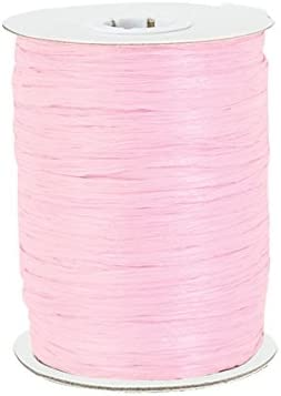 Paper Raffia Ribbon Twisted 1//4-100 Yards Roll 100/% Natural Fibers Choose Color Ivory