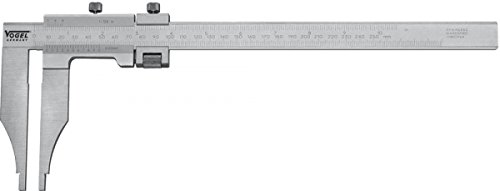 Workshop Caliper, 1250mm/49'' 0,05mmx1/128'', stainless, length of jaws 200 mm, hardened, chromed, DIN 862, read. mm/inch, w/o knife-points, with fine adjustment, in a wooden box