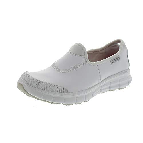Blanc Femme Sécurité Chaussures Noir Track de Skechers Sure xT81qWZ