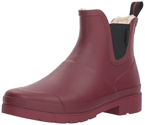 Tretorn Women's LINAWNT Rain Shoe, Dark red, 7 M US