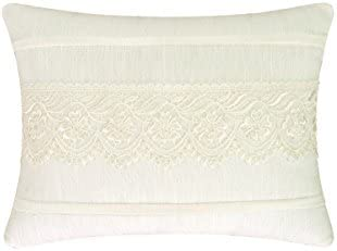 C F Home 86159034 Lace Throw Pillow, White, 12 by 16