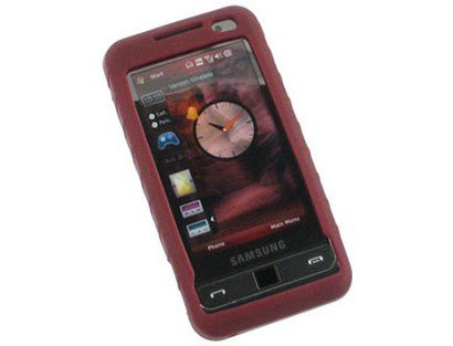 - Burgundy Silicone Soft Gel Flexible Skin Phone Protector Case For Samsung Omnia i910