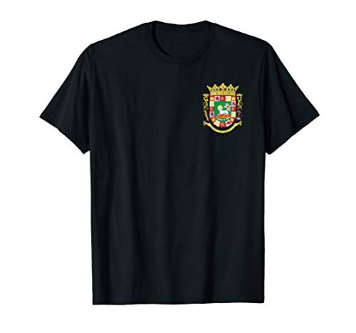 Puerto Rico Coat of Arms Tshirt - Double Sided