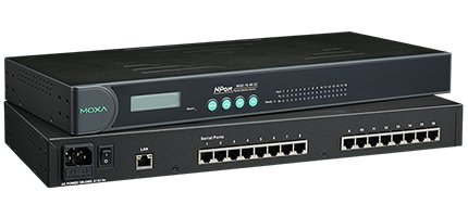 MOXA NPort 5650-16 - 16 Ports Rackmount Serial Device Server, 10/100 Ethernet, RS-232/422/485, RJ-45 8pin, 15KV ESD