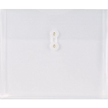 Staples Poly Envelopes w/ Side Opening, Letter, Clear, 10/Pack