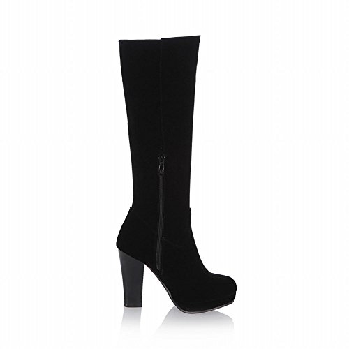 Platform High Knee Nubuck Heel Fashion high Womens Boots Zipper Boots Chains Latasa Dress nHxqYpIw0z