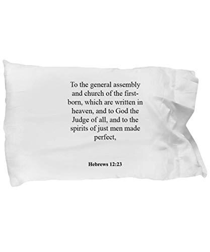 Hebrews 12 23 Pillow Case - Inspirational Bible Verse/Psalm Gift: