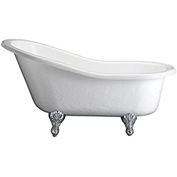 Barclay Atds7h69b Wh Montebello Acrylic Double Slipper Tub