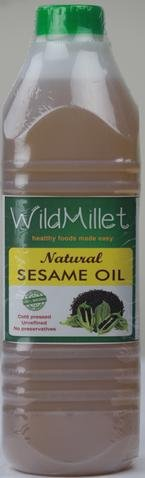 Natural Cold Wooden Rotary Pressed Sesame (Gingelly) Oil - 1 Lit - No Preservatives - Unrefined