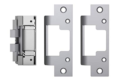HES 8000C Complete Pac for Latchbolt Locks, Includes The 801 & 801A faceplates, Satin Stainless Steel (630), Dual Voltage (12/24 VDC/VAC) ()