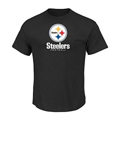 NFL Pittsburgh Steelers Men's UP4 Tee, Black, Large