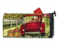 MailWraps Red Truck Mailbox Cover #04089