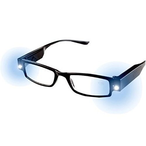 Binglinghua Multi Strength Eyeglass LED Reading Glasses Spectacle Diopter Magnifier Light UP - Up Light Glasses Reading